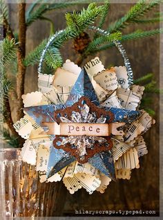mini Christmas cone ornament how-to