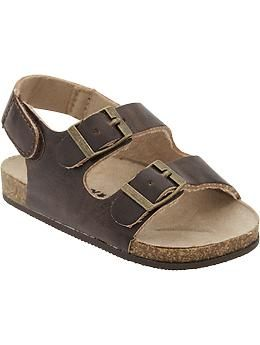 47b3608f88f1 Faux-Leather Sandals for Baby