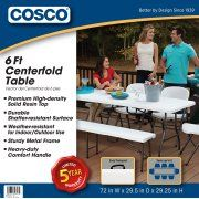 Cosco 6 Centerfold Table Multiple Colors Image 3 Of 5 Cosco