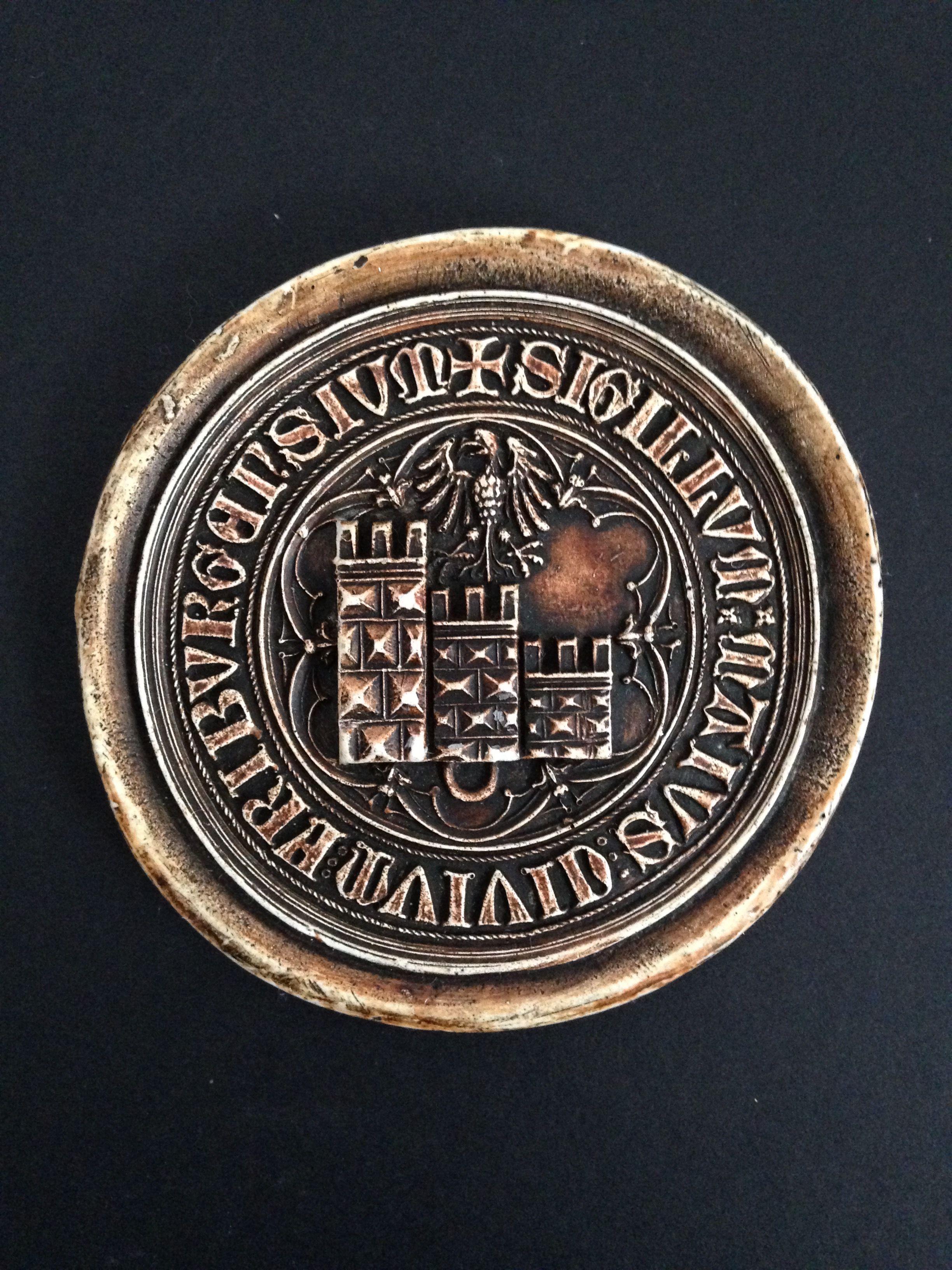 Great Seal Of The City Of Freiburg Switzerland 1225 Wax Seals Heraldry Ancient