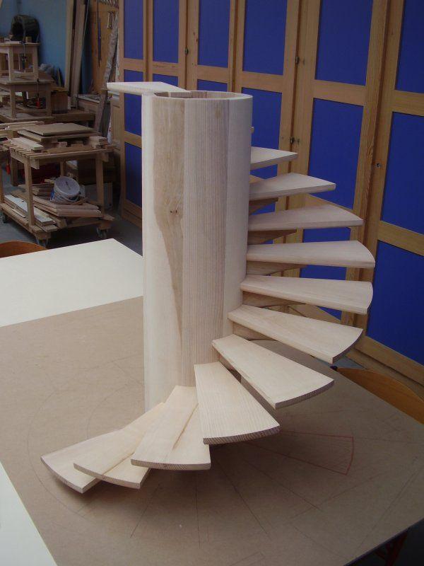 escalier en colimacon maquette