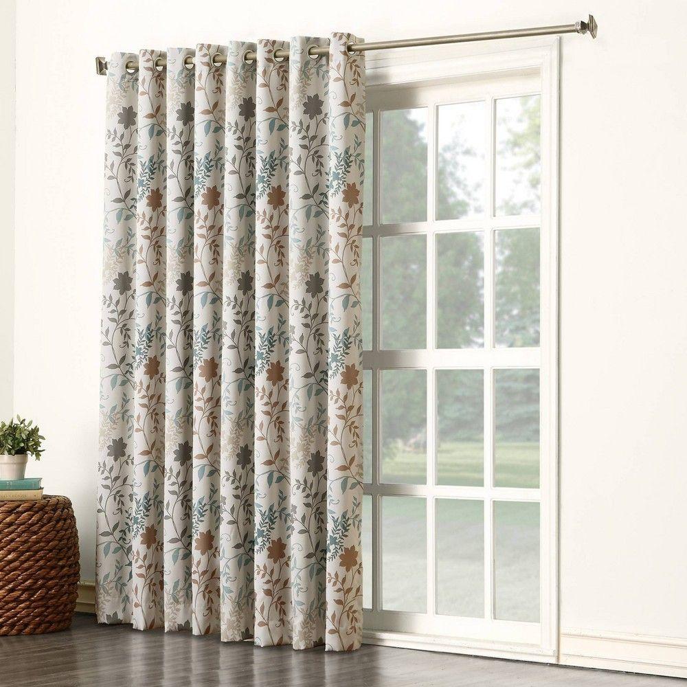 84 X100 Helen Extra Wide Energy Efficient Sliding Room Darkening Door Curtain Panel Stone Sun Zero In 2020 Patio Door Curtains Patio Doors Door Coverings