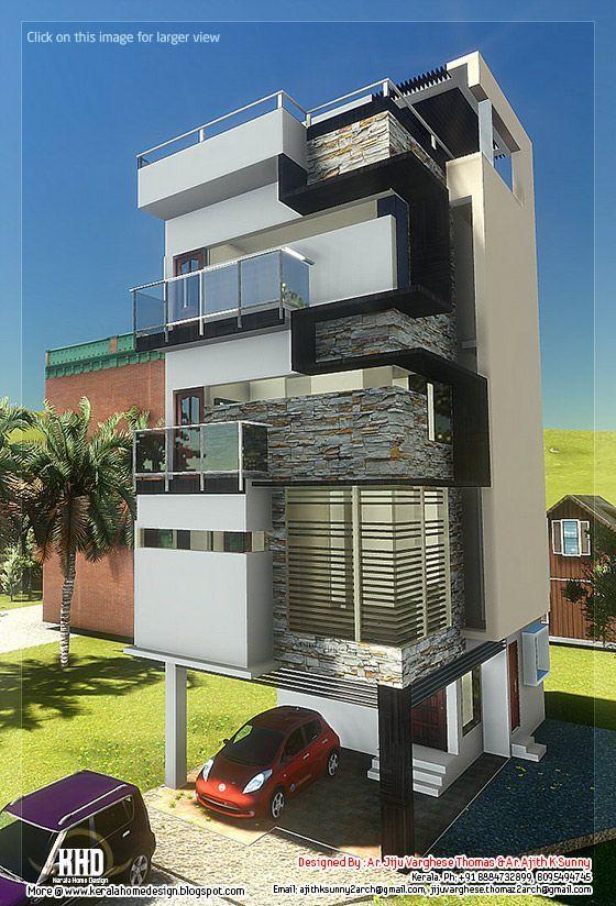 small plot narrow house design | Architecture | Pinterest | Narrow ...