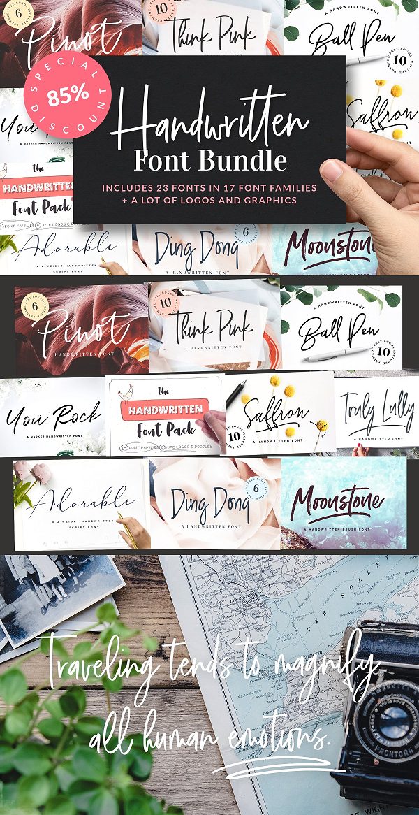 125+ FREE Handwriting Fonts for Designers, Download