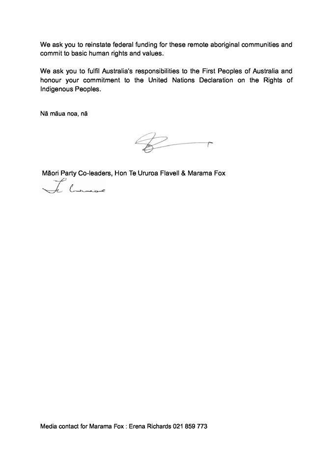 Open Letter To The Prime Minister Of Australia Tn Koe Hon Tony