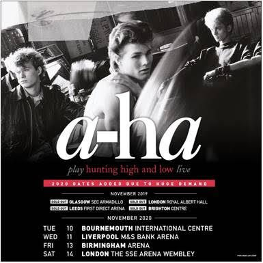 a-ha 2020 dates added due to huge demand #lowalbum