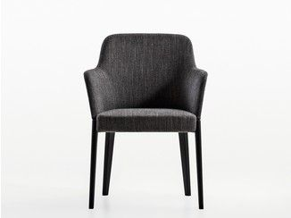 Upholstered fabric chair CHELSEA | Chair with armrests - MOLTENI & C.