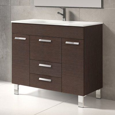 Eviva Venus 36 in Single Sink Bathroom Vanity Set - EVVN528-36WG