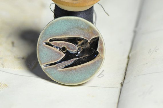 bird sew on button by LauraJaineWalker on Etsy, $17.50