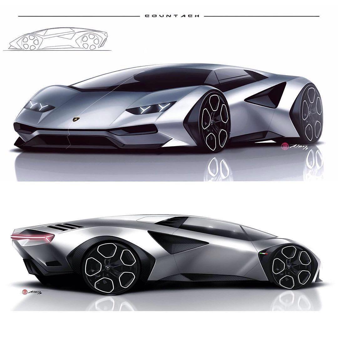 Dc Design On Instagram Lamborghini Countach By Alan Deroiser Alan Derosier Cardesign Car Design Lamborghini Countach Futuristic Cars Lamborghini Concept