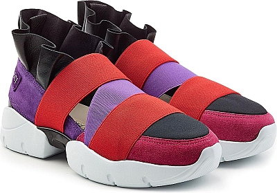 7c6a7cbcbaa9 Emilio Pucci Shoes - Emilio Pucci s colorful sneakers are finished in  modern stretch fabric and tactile suede for the most indulgent but urbane  clash.