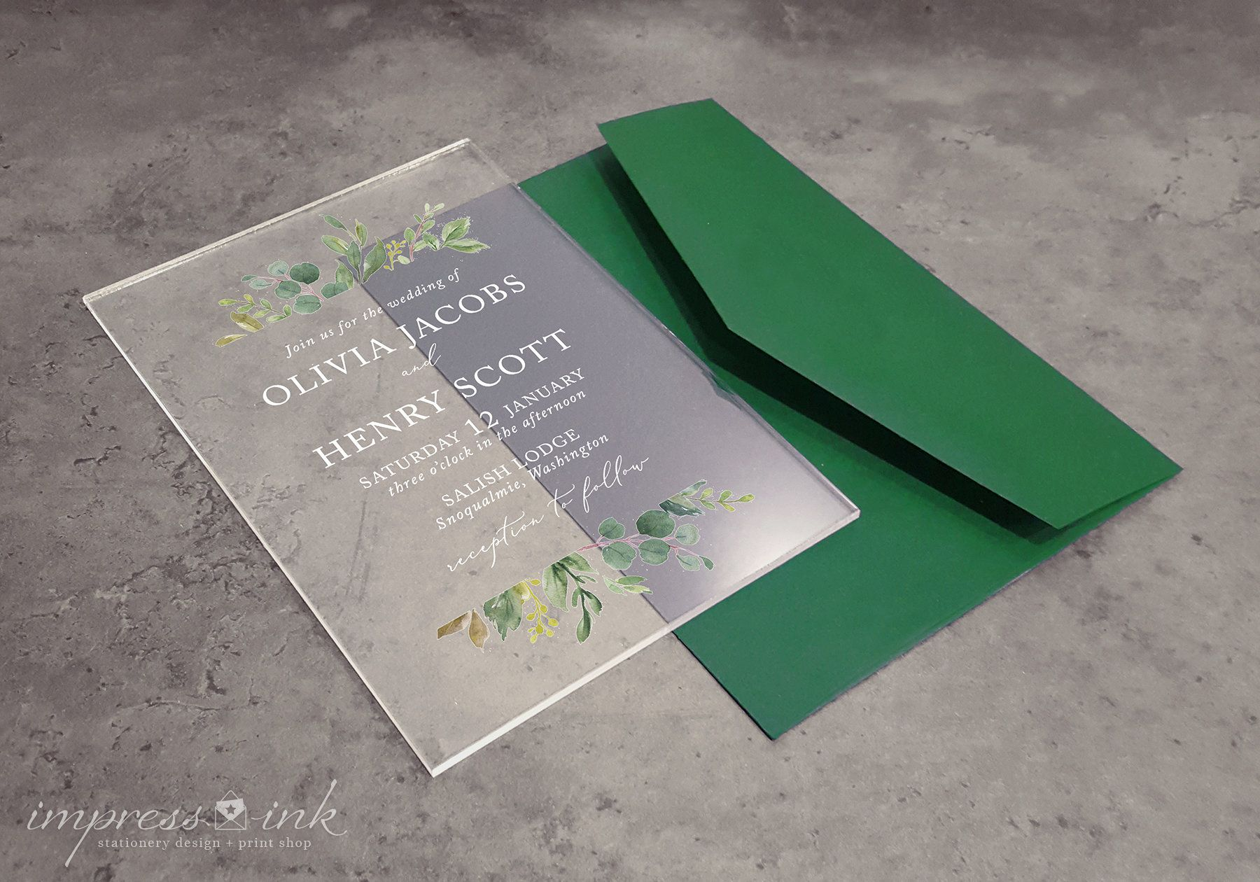 Clear Acrylic Invitations Plastic Wedding Invites