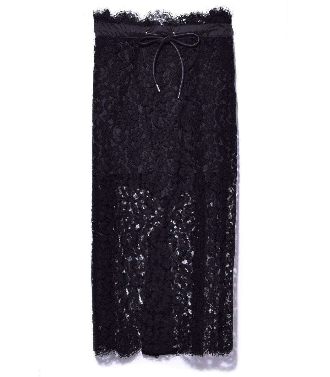 Sacai Black Floral Lace Skirt - Black Floral Lace Skirt
