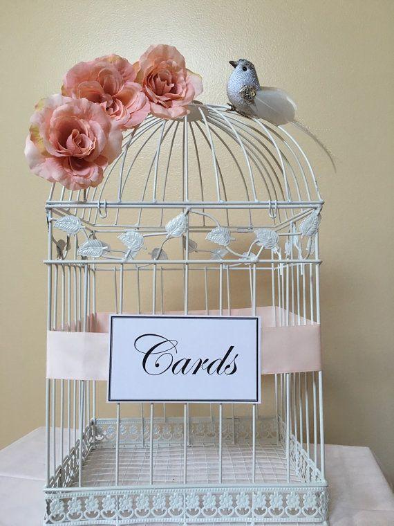 Items similar to Large Bird Card Holder White Bird Cage Card Holder Wedding Money Holder Ca Items similar to Large Bird Card Holder White Bird Cage Card Holder Wedding Mo...