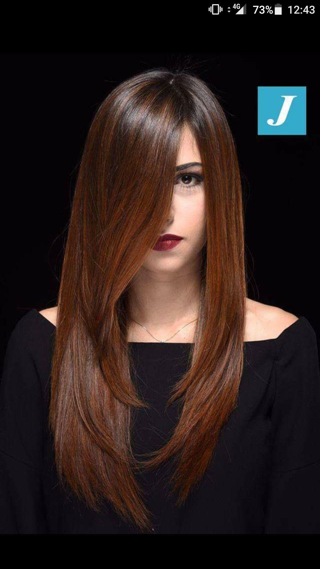Capelli lunghi | Colori capelli castani, Capelli castani ...
