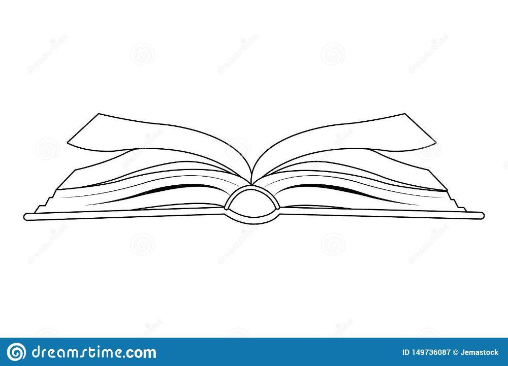 Open Book Icon Cartoon Isolated Black And White Stock Vector Illustration Of Read Learn 149736087 Open Book Drawing Book Icons Vector Illustration