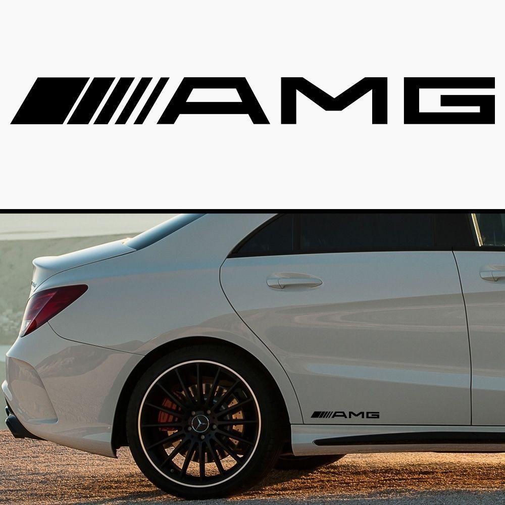 AMG MERCEDES CAR SKIRT BODY VINYL STICKER DECAL #AMG | Stuff