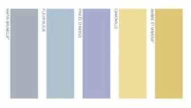 Associer couleur peinture chambre bleu gris jaune deco for Peinture couleur lavande