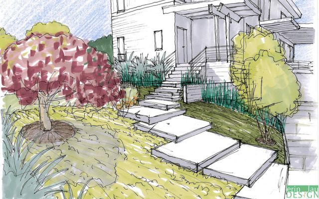 How To Draw Plants Landscape Design Drawings Perspective Sketch