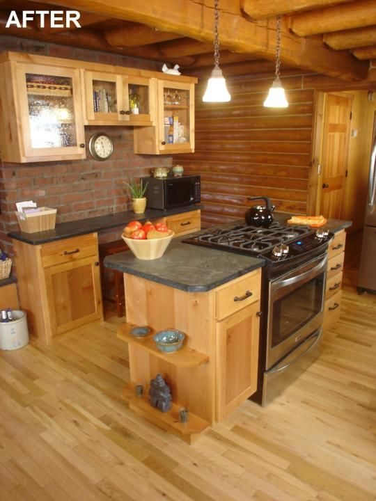 DIY Network's 'Sweat Equity' Log Home Kitchen Remodel – The Log Home ...