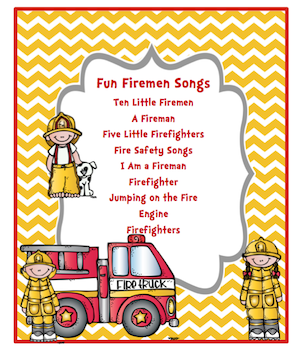 preschool printables free fun fireman songs tot school rh pinterest ca