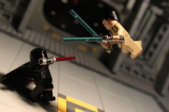 Darth Vader vs Luke Skywalker in Lego form. Image used for blog post ...
