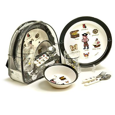 Baby Cie Childrens Melamine Dinnerware Lunch Set and Back Pack - Pirate  sc 1 st  Pinterest & Baby Cie Childrens Melamine Dinnerware Lunch Set and Back Pack ...