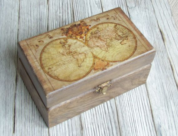 Oak treasury box vintage world map jewelry wooden box for him around oak treasury box vintage world map jewelry wooden box for him around the world in eighty days gumiabroncs Choice Image