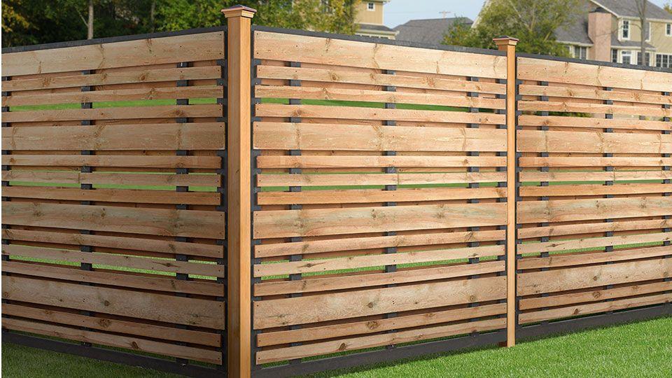 6x6 Spaced Horizontal Fence Panel Kit Wood Fence Design