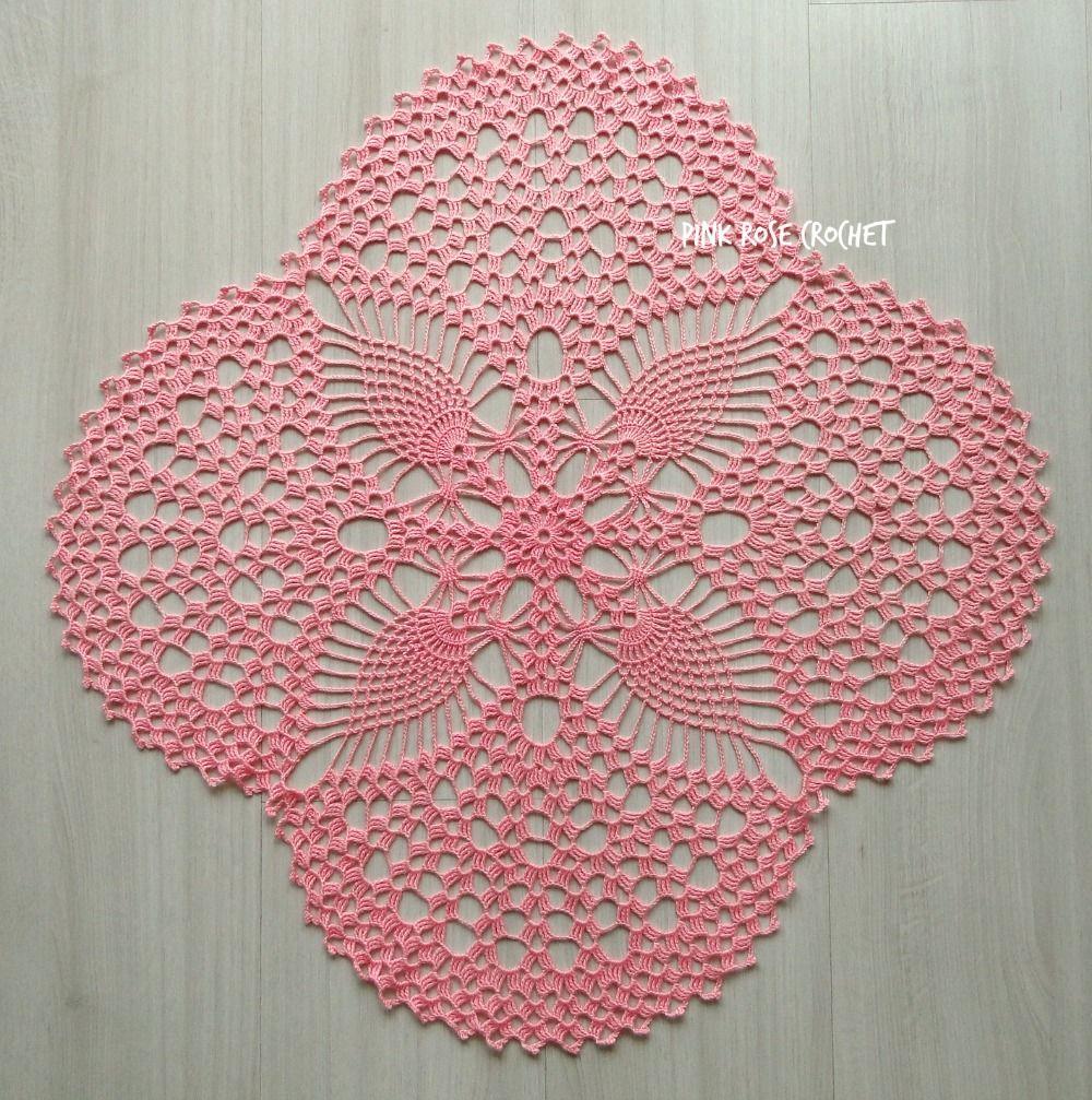 pink_pineapple_fans_doily_centrinho_toalhinha.jpg 1,000×1,007 pixels ...