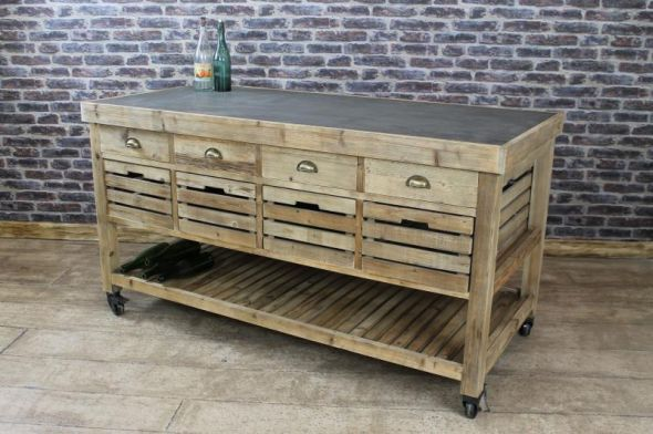 This Zinc Top Kitchen Island Is A Fantastic Addition To Our Large Range Of Vintage Furniture Amazing Mobile