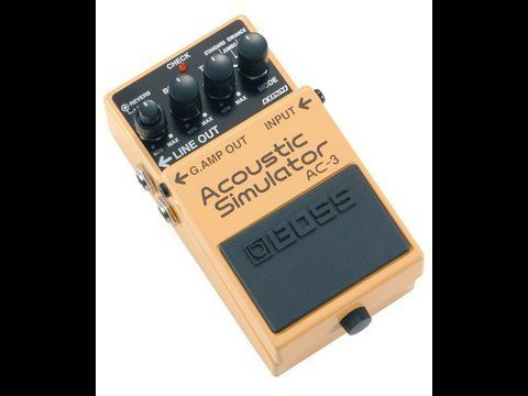 Boss Ac3 Acoustic Simulator Pedal Guitar Pedals Guitar Effects Boss Pedals