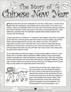 the story of chinese new year education social  the story of chinese new year