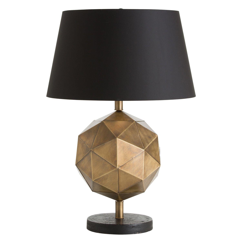Geometric brass lamp with black shade arteriors dru table lamp geometric brass lamp with black shade arteriors dru table lamp geotapseo Choice Image