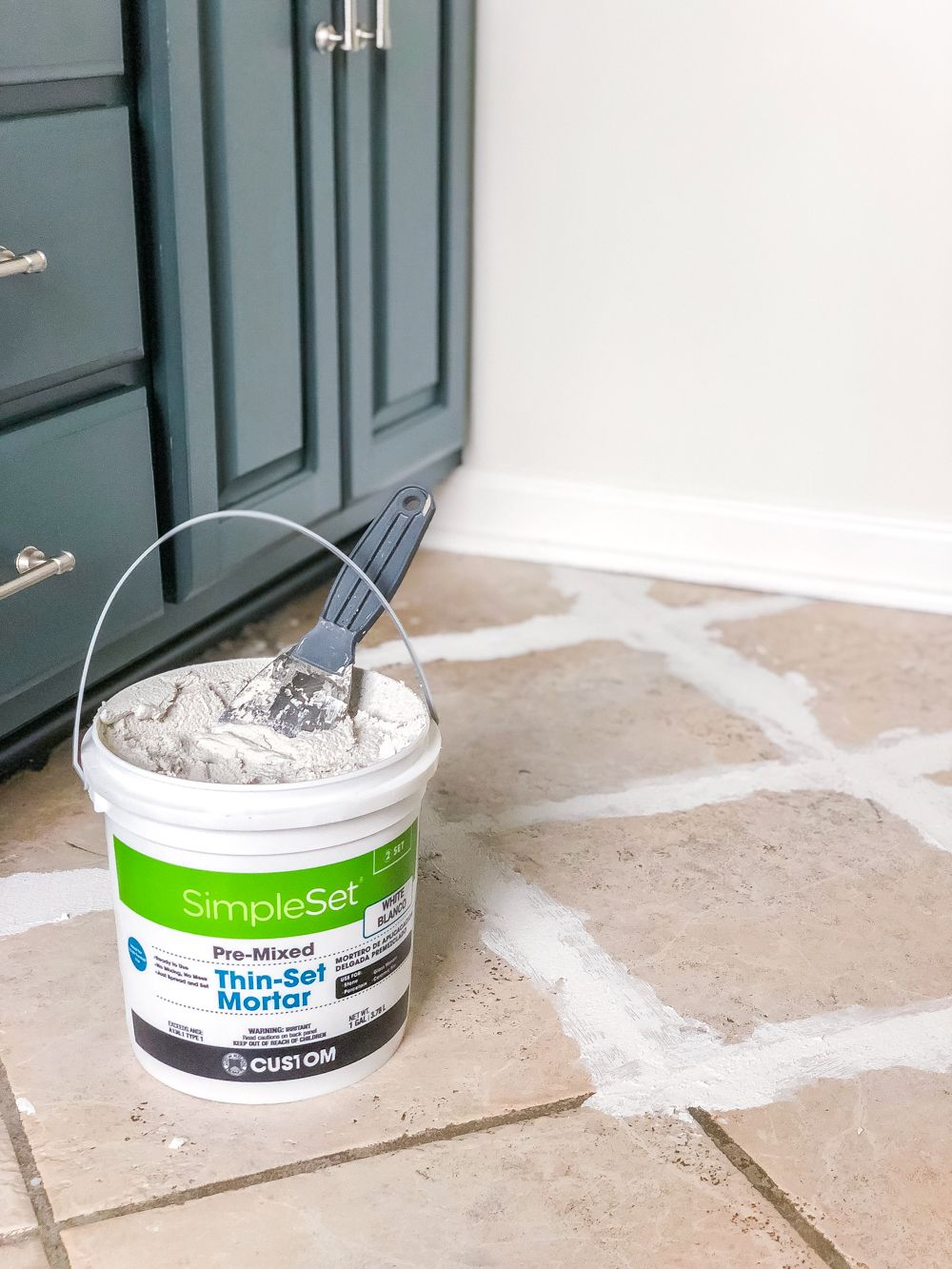 How to install sheet vinyl flooring over old tile fill grout lines with thin set mortar