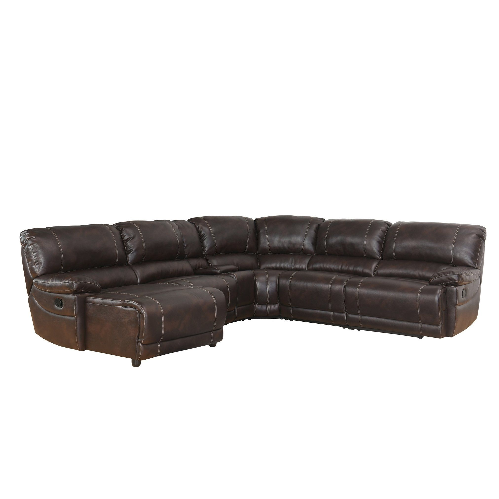 Astounding Abbyson Cooper 6 Piece Dark Brown Sectional Sofa Brown Caraccident5 Cool Chair Designs And Ideas Caraccident5Info