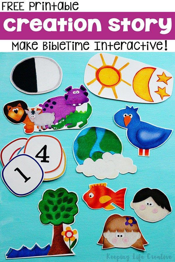 The Bible Creation Story for Kids | Preschool bible ...