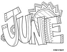 June Coloring Page Calander Summer Coloring Pages Coloring