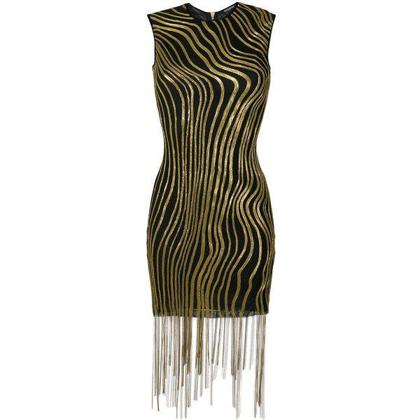 Balmain bead-embellished mini dress (129 775 UAH) ❤ liked on Polyvore featuring dresses, black, glitter cocktail dress, short beaded cocktail dresses, night out dresses, glitter dress and glitter party dresses