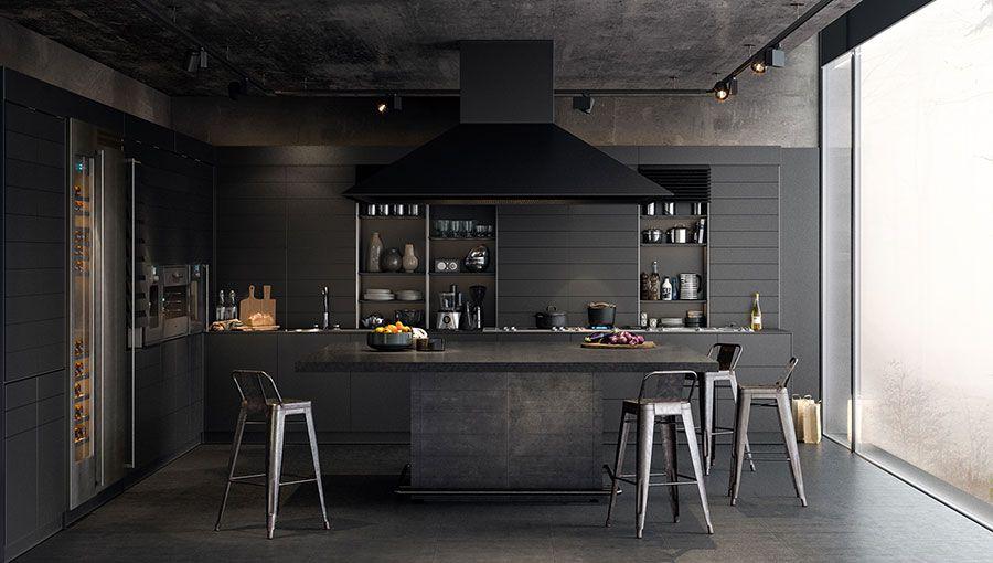 Cucine Nere Di Design 30 Modelli Che Vi Conquisteranno Modern