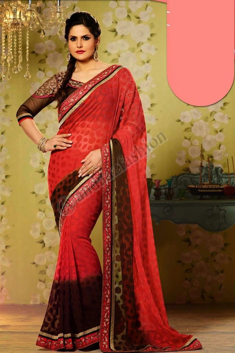 Marron Rouge Georgette Saree design n ° DMV7572 Prix: - Type de 56,77 € Robe: Saree Tissu: Georgette Couleur: Brun avec Red Décoration: brodé, Resham, Zari, brodé Pallu. Pour plus de détails: - http://www.andaazfashion.fr/brown-red-georgette-saree-and-brown-silk-blouse-dmv7572.html
