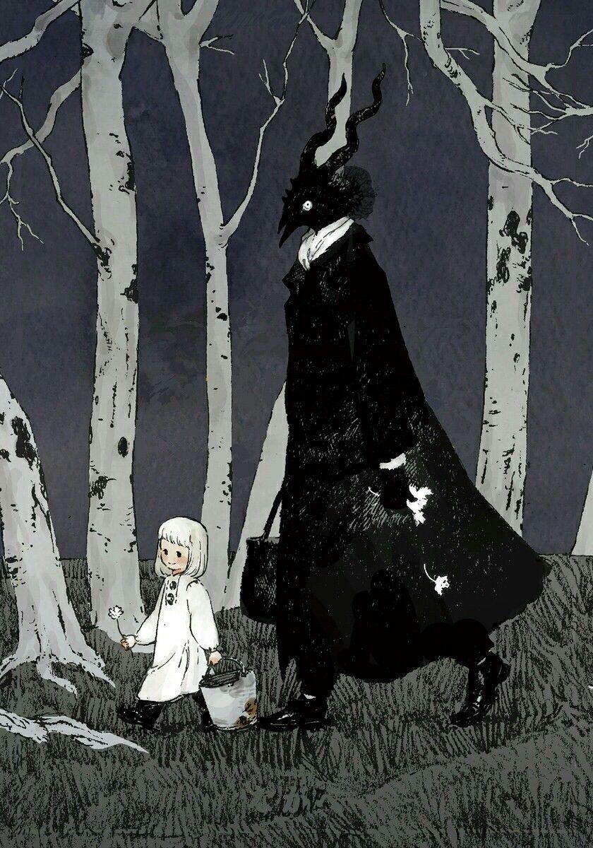 Totsukuni no shoujo manga cover art clean | Desenhos diabolicos,  Ilustrações, Desenhos psicadélicos