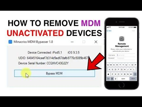 Remove MDM (Mobile Device Management) Configuration Profile on any