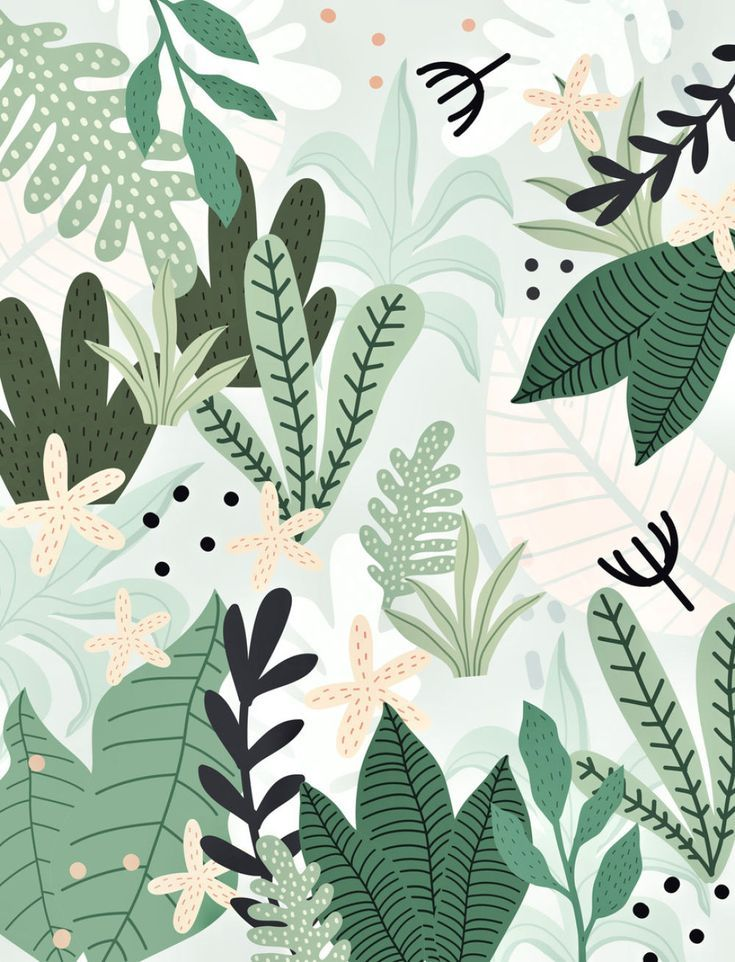 Into the Jungle II Wallpaper by Gale Switzer (galeswitzer) from $53.50 per m² #junglepattern