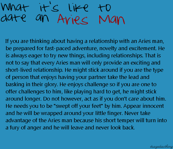 Things to know when dating an aries man
