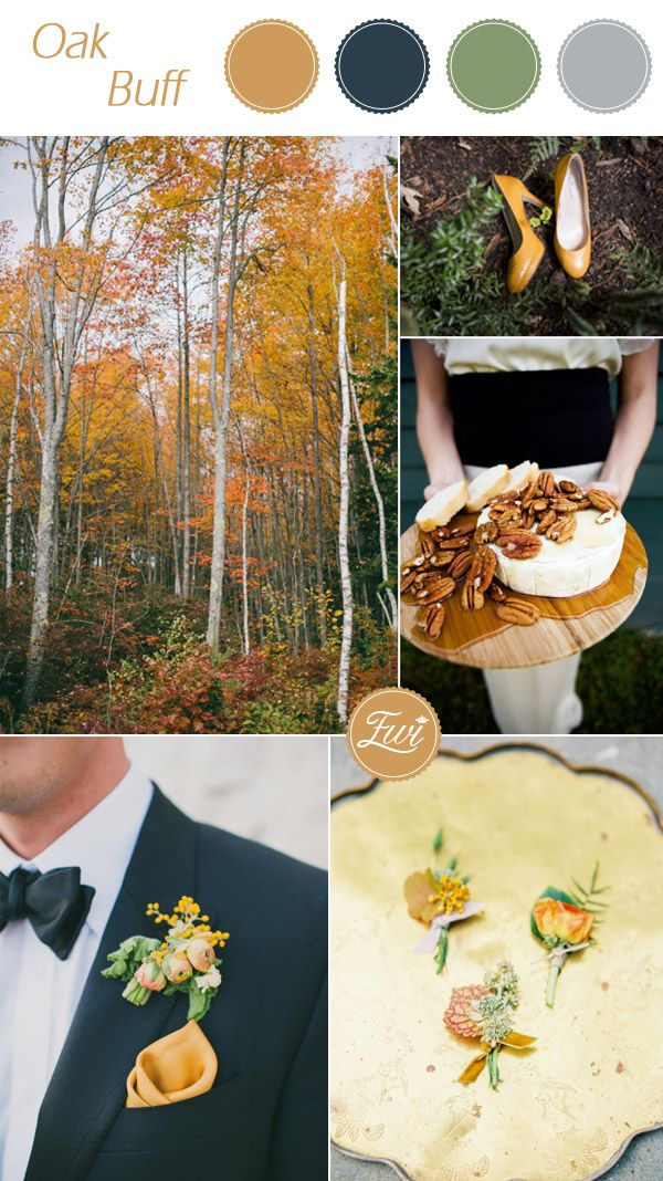 Top 10 pantone wedding colors for fall 2015 wedding colors pantone oak buff inspired rustic fall wedding color ideas 2015 junglespirit Images
