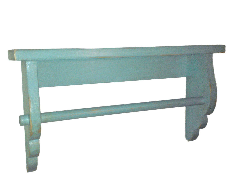Wave Ledge Shelf With Towel Bar | Ledge shelf, Towels and Shelves
