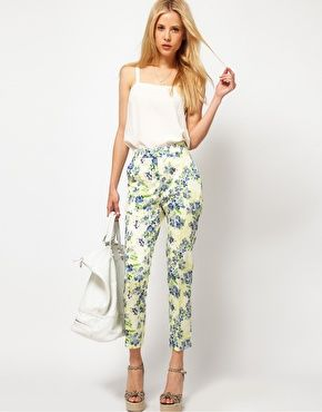 Enlarge ASOS Ankle Grazer Pants In Floral Print