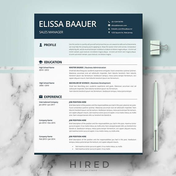 Modern Resume Templates Professional Biodata format for Ms Word