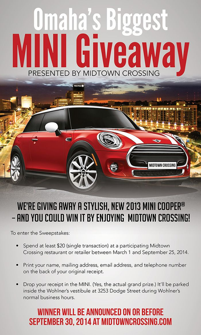 Midtown Crossing gives! Win a stylish new 2013 mini Cooper